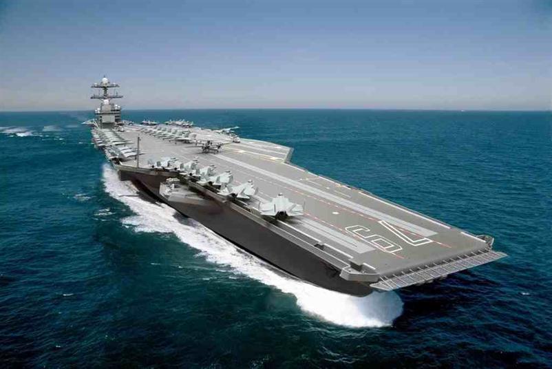 بالصور: أغلى حاملة طائرات أمريكية جديدة بقيمة 13 مليار دولار