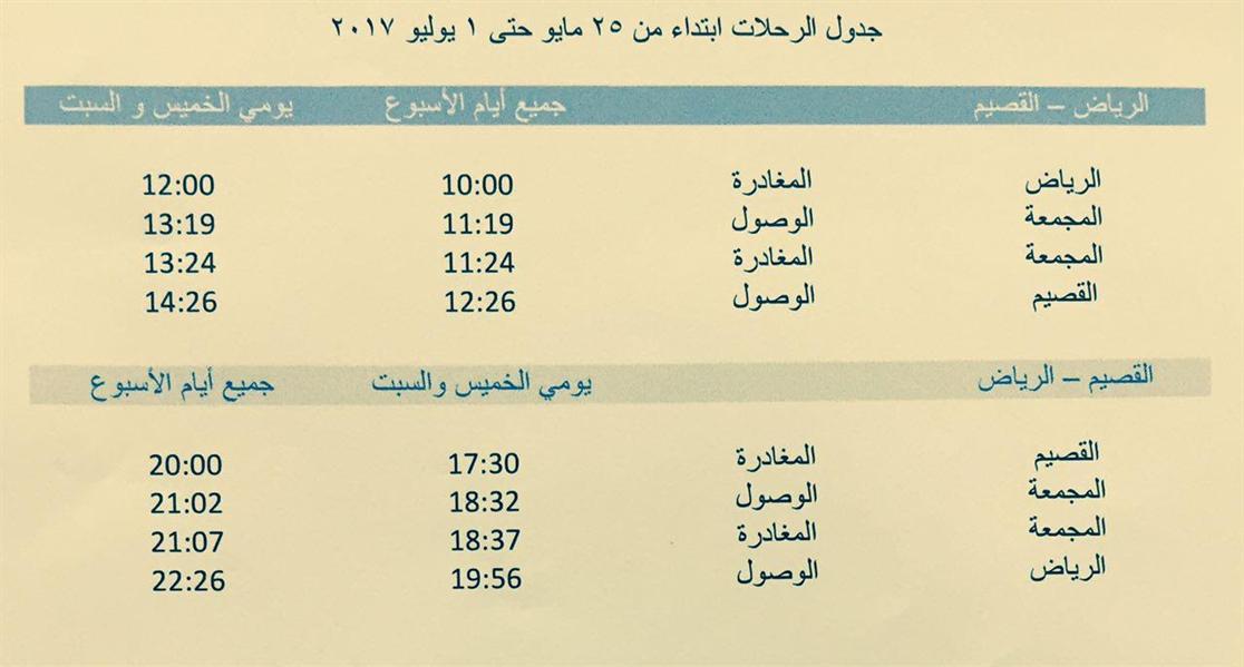مواعيد جديدة لرحلات قطار سار تزامنا مع دخول الشهر المبارك