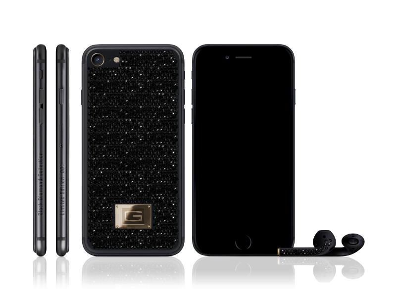 """بالصور: شركة سويسرية تطرح نسخة مرصعة بالألماس الأسود من """"آيفون7"""" بنصف مليون دولار"""